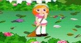 لعبة تنظيف الحديقة