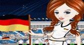 تلبيس مشجعات منتخب ألمانيا