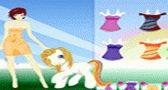 البنت و حصانها الجميل