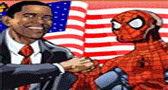 لعبة اوباما و سبايدرمان